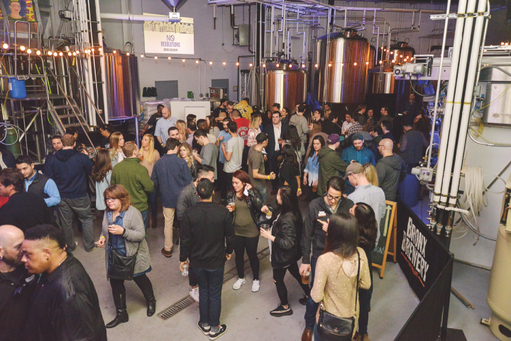Sponsorships, tasting events, tap takeovers and social media all play an important role in building awareness of the Bronx Brewery brand (brewery event pictured).
