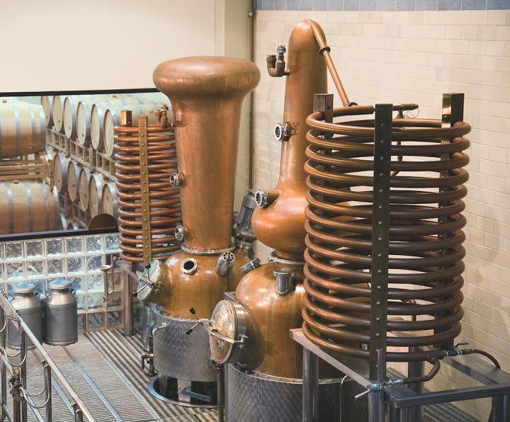 As a smaller craft distiller, Anchor Distilling (stills pictured) has differentiated its portfolio by focusing on the history and authenticity of its brands.