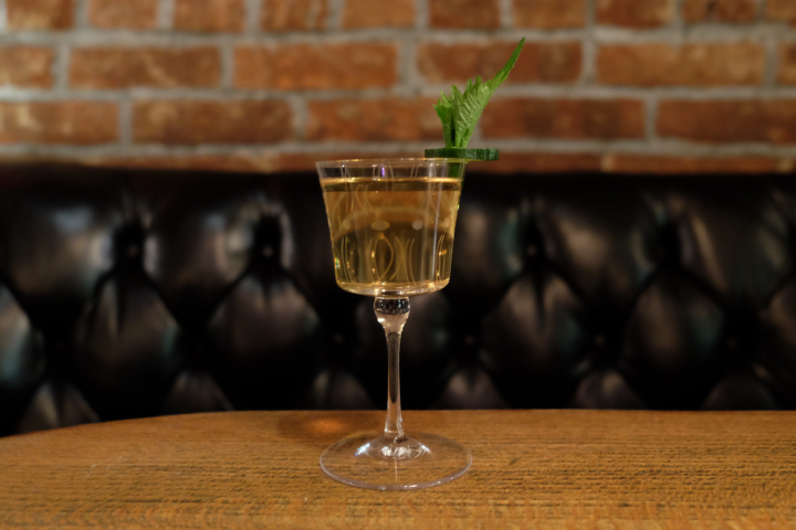 Hendrick's has become a household name largely because of marketing in the on-premise.  At PDT in New York City, the Silver Springs (pictured) mixes Hendrick's, sake, aloe liqueur, and muddled cucumber and shiso leaf.