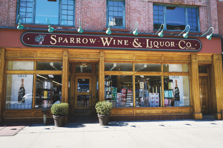 Established in 1922 as a tobacco retailer, Sparrow Wine & Liquor Co. (storefront pictured) was one of the first businesses in Hoboken, New Jersey, to receive a liquor license following Prohibition. Today, the two-unit store is the largest beverage alcohol retailer in the city.