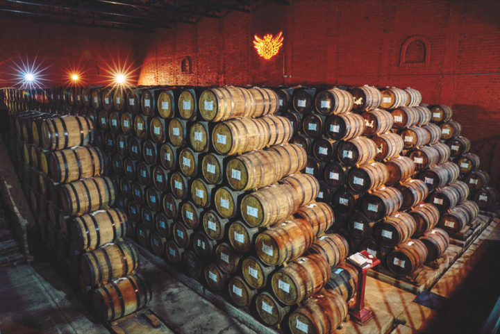 While high-end Tequilas like Avión (barrel room pictured) have led the way in burnishing the category's luxury image, the industry's more mainstream labels are also thriving.
