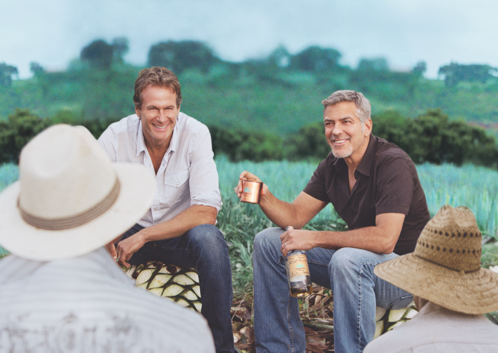 Founding partners Rande Gerber (left), George Clooney (right) and Mike Meldman (not pictured) sold Casamigos to Diageo for $700 million, with $300 million more based on future performance.