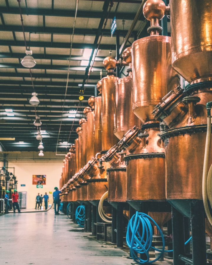 Patrón's distillery uses small-capacity copper stills to make its Tequila, which ranges in price from $45 to $500.