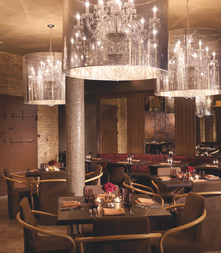 Once seen as a seasonal wine, rosé is now offered year-round at venues like Sepia in Chicago (dining room pictured).