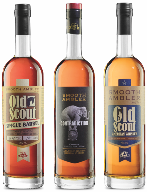 Pernod Ricard's investment in Smooth Ambler (whiskies pictured) has let the West Virginia distillery expand its production.