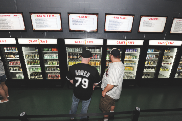 The beer program at Chicago's Guaranteed Rate Field underwent an overhaul this year, with a new Craft Kave (pictured) offering 75 brews.