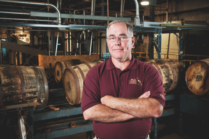 Wild Turkey's master distiller Eddie Russell cites warehouse location and age as important factors in barrel selection.