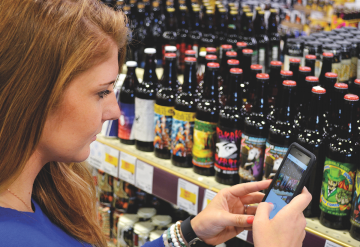 At Chicago-area retailer Binny's, communications coordinator Hilary Jurinak (pictured) uses Instagram to highlight the store's beer selection and promote events.