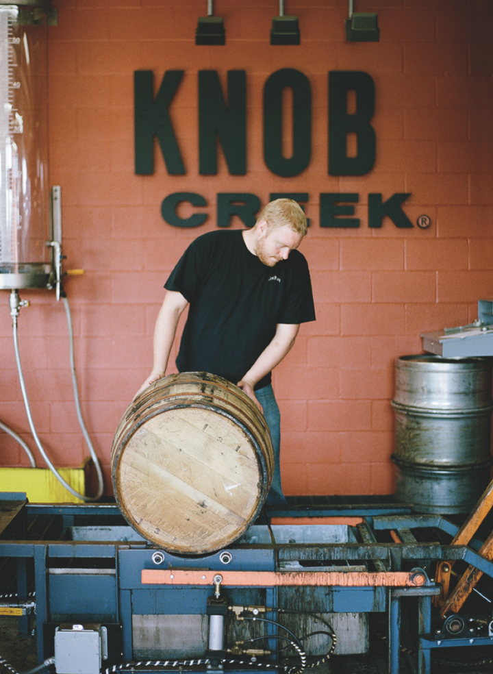 Beam Suntory's Knob Creek label continues to perform well, with demand rising for special releases like last year's Knob Creek 2001 Limited Edition (Knob Creek barrel pictured above).