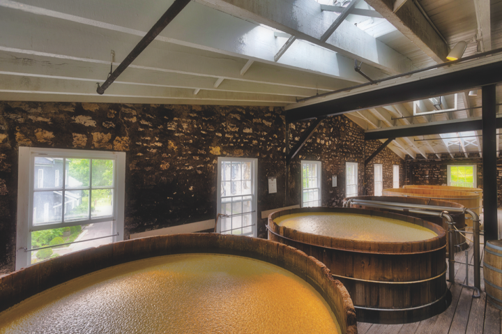 Woodford Reserve (open fermenters pictured) has soared in recent years, with over 17 percent growth in 2016.