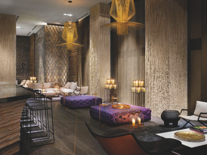 KNR oversees the W South Beach's cocktail den Living Room (pictured), as well as its pool venue Wet.