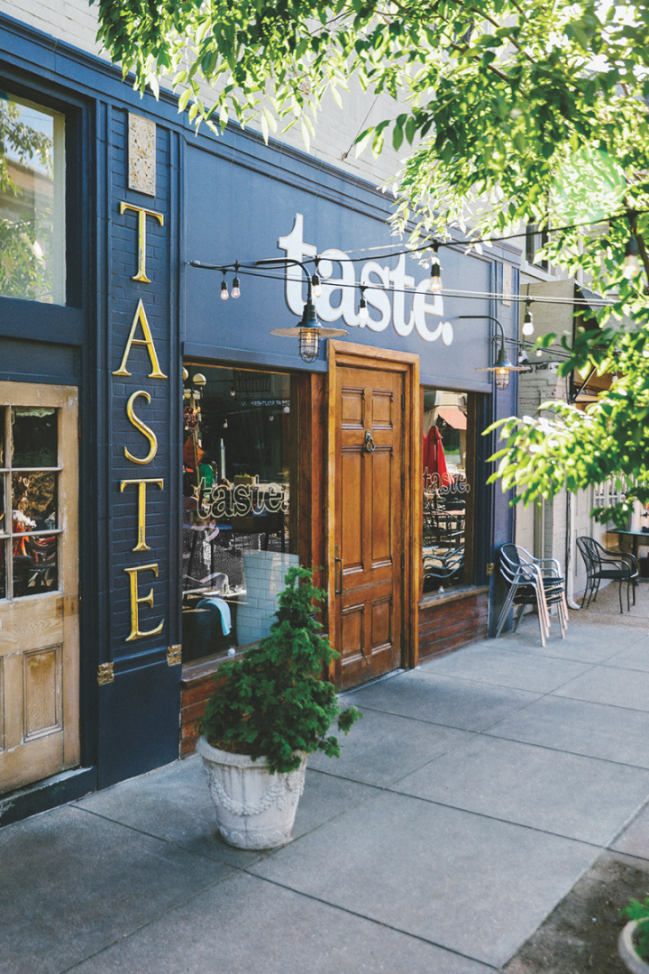 Taste Bar (exterior pictured), the most mixology-heavy venue within Niche's portfolio, is half-cocktail bar, half-restaurant.