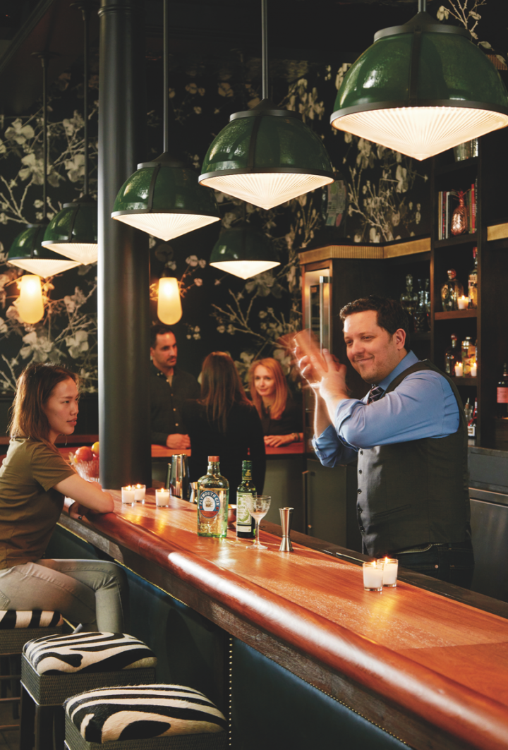 Famed mixologist Jacques Bezuidenhout (pictured) makes drinks at Wildhawk in San Francisco.