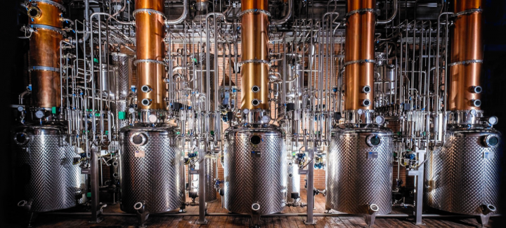 Gra'it is produced at the Bonollo distillery (stills pictured) in Italy's Veneto region. The grappa is the result of a partnership between Bonollo and Gra'it's founder, Luca Fabris.