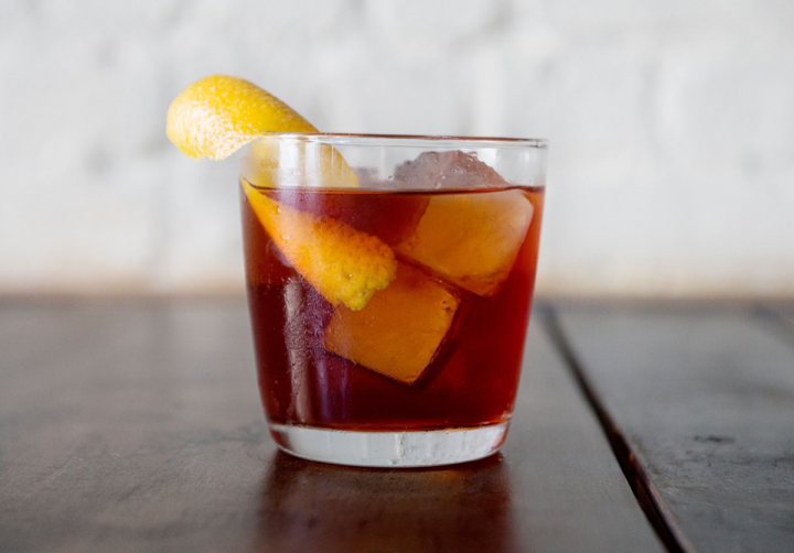 At Chao Chao in New York City, the Nah Toi blends Joto Junmai, Cappelletti aperitif, amaro and Byrrh Grand Quinquina.