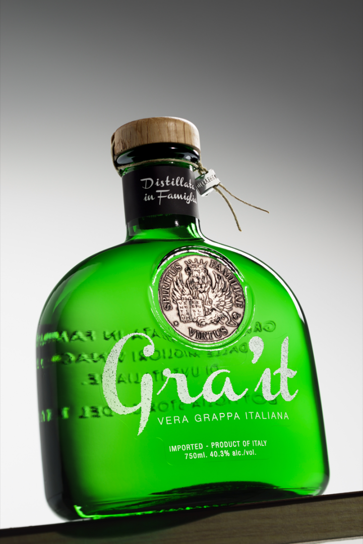 Every Gra'it bottle is handmade at a glass-making company based in Murano, Venice.