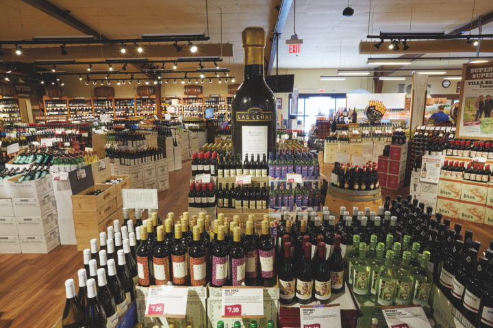 Wine comprises 60 percent of sales at Stew Leonard's, though it has lost share to spirits and beer as of late.
