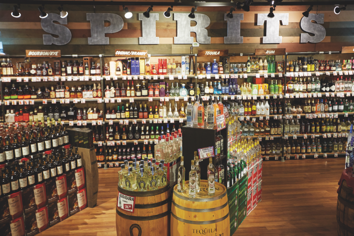 Spirits account for 30 percent of sales at Stew Leonard's.