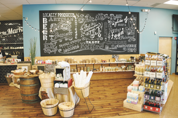 Co-owner Elizabeth McCabe oversees The Market, which houses White Horse's artisanal food offerings, in-store kitchen, giftware and accessory items.