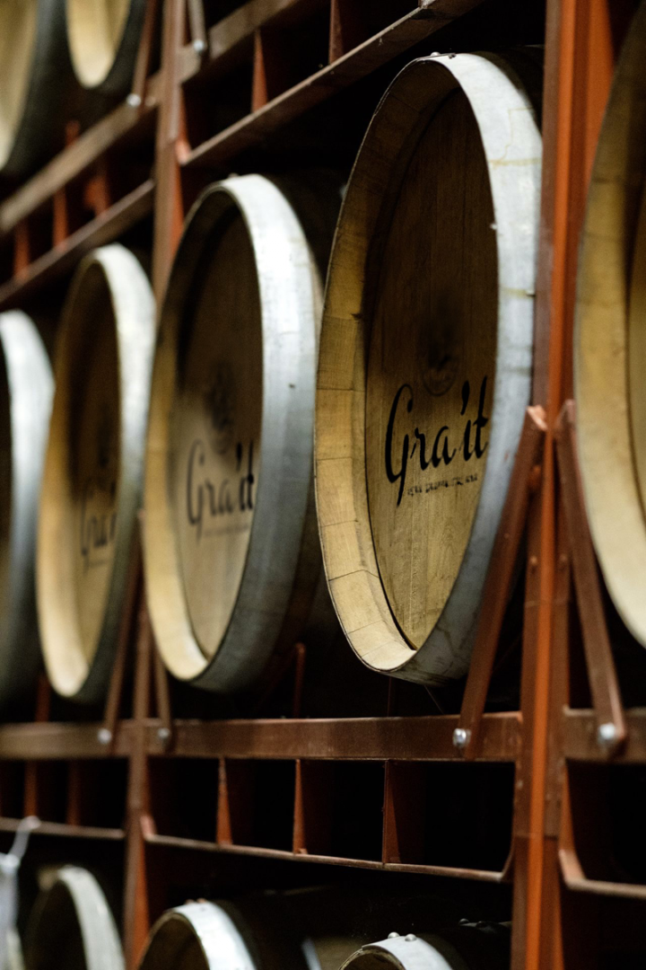 Prior to bottling, Gra'it is aged in Slavonian oak casks for 12 months at the Bonollo distillery.