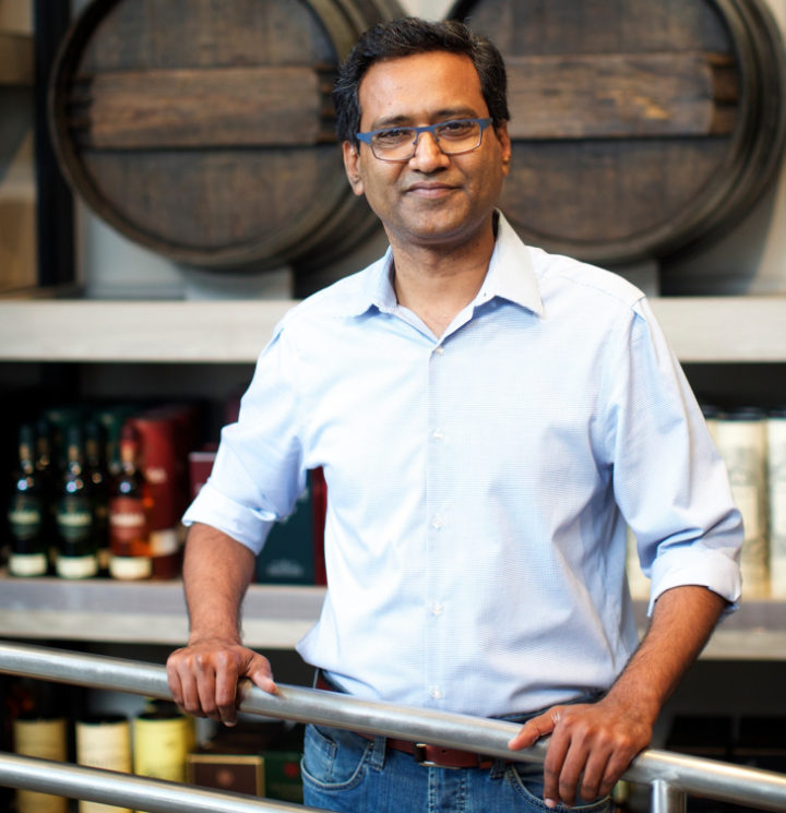 Wine Legend brand owner and president Mahesh Lekkala strives to provide consumers with rare spirits at reduced prices.