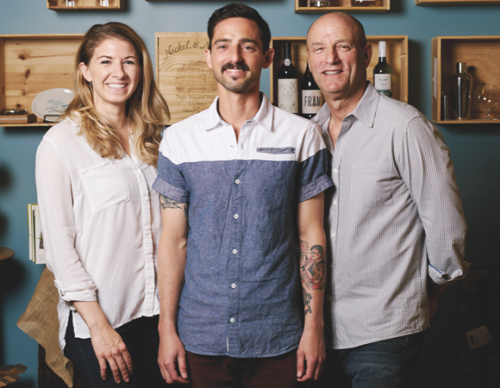 White Horse Wine & Spirits co-owners Elizabeth McCabe (left), Adam Sternberger (center) and Steve Sternberger (right) have poured their energy into creating a single exceptional store.