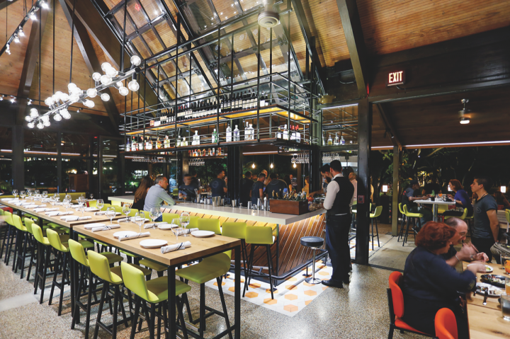 At Glass and Vine, Grove Bay's first full-service, original-concept restaurant, modern Floridian food is served alongside drinks that feature fresh, seasonal ingredients.