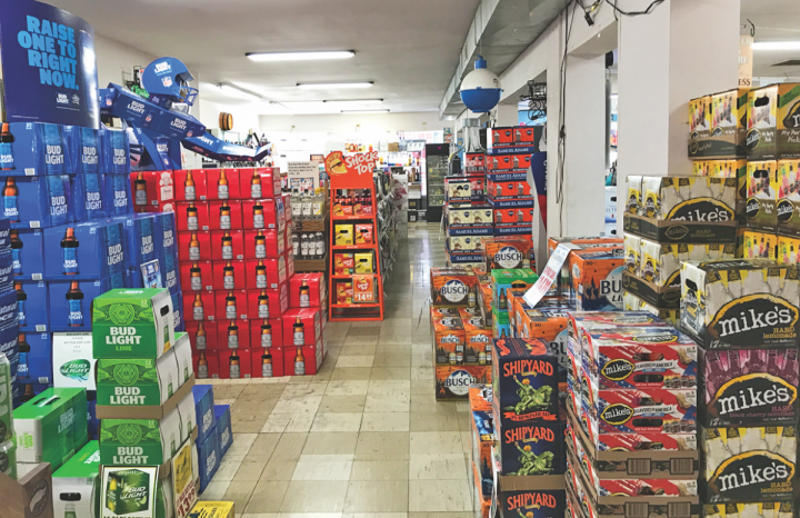 Many of Connecticut's small beverage alcohol retail businesses, like Universal Package Store (above), believe the state is unfriendly to mom-and-pops.