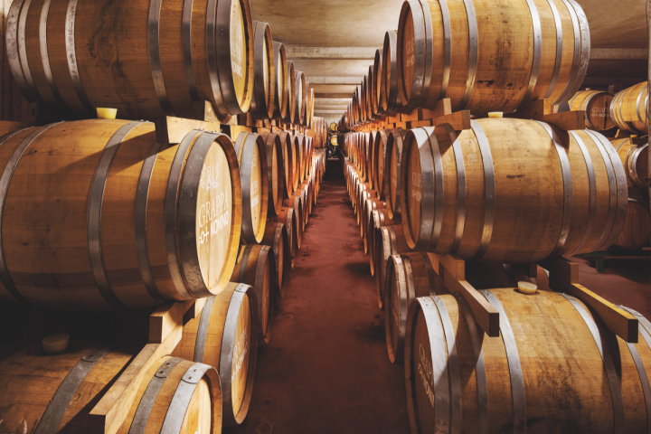 Nonino has five aging cellars, in which a variety of its grappas, amaros and single grape distillates are aged.