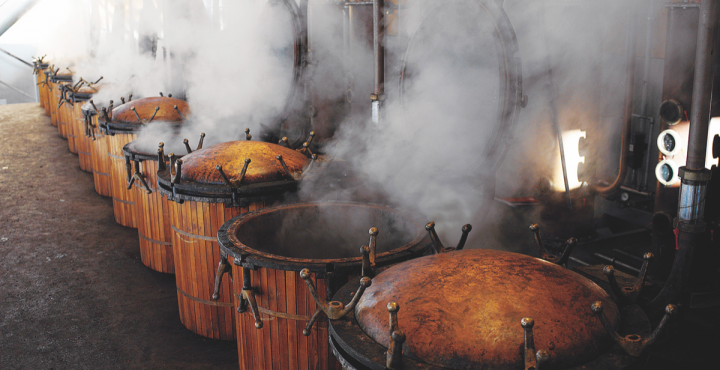 Nonino is the only distillery in the world with 66 artisanal pot stills for distillation, enabling the company to distill fresh pomace and make several types of grappa all at once.