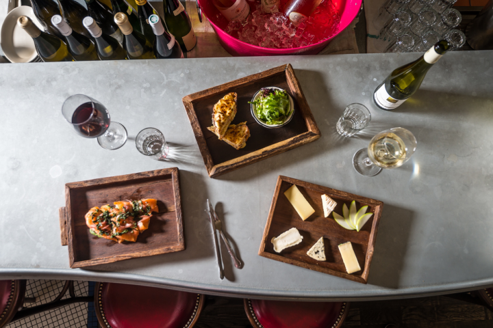 Vin Sur Vingt's extensive wine list is accompanied by a variety of French small plates, including croque monsieur, pate and tartines.