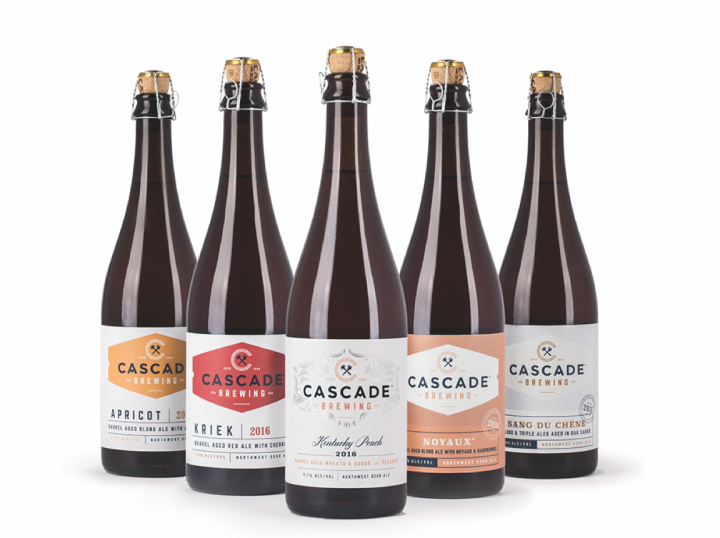 Cascade's luxury sours can age for up to two and a half years.