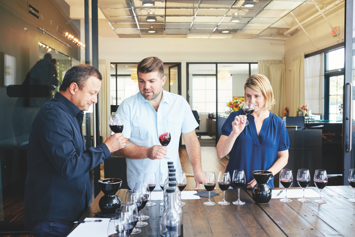 Wagner (pictured tasting red wine samples with John Lopez and Copper Cane marketing director Sally Burton) currently has a number of new ventures in the pipeline, including two new winery projects in Napa and Sonoma County.