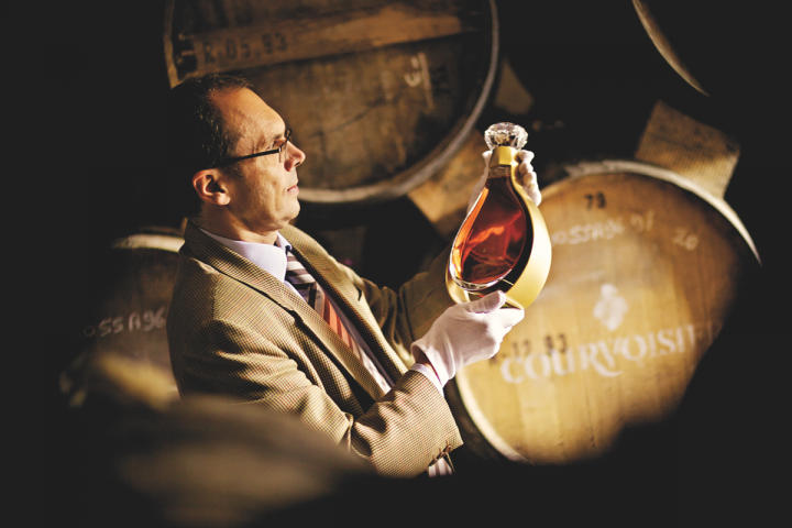 Beam Suntory–owned Courvoisier (master blender Patrice Pinet pictured) is the third largest Cognac brand by volume in the United States.