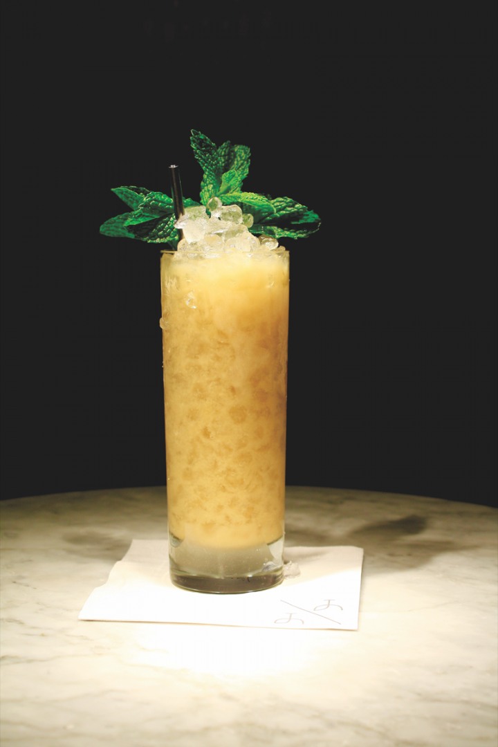 The Up & Up's Jungle Ration is a unique, brandy-based take on the Mai Tai.