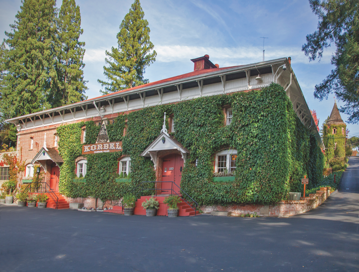 Korbel (winery pictured) has seen its sparkling Brut and Sweet Rosés enjoy remarkable success.