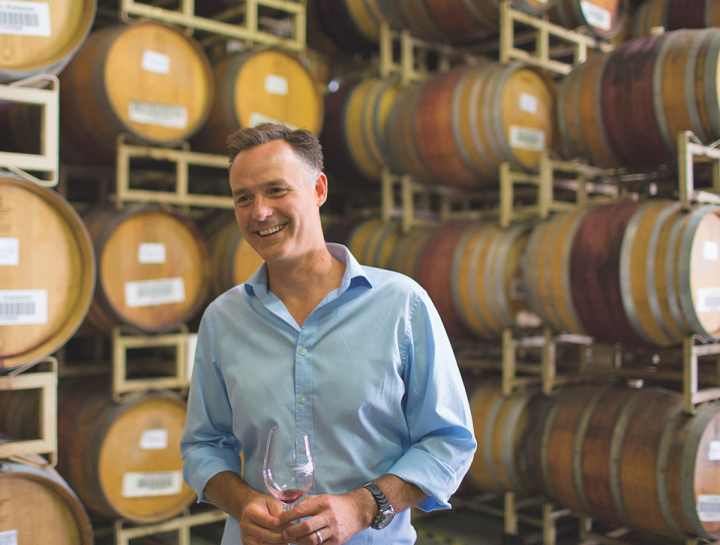 At Hahn Family Wines (president Tony Baldini pictured) in Monterey, high-end Pinot Noir and Chardonnay wines account for over half of total production.