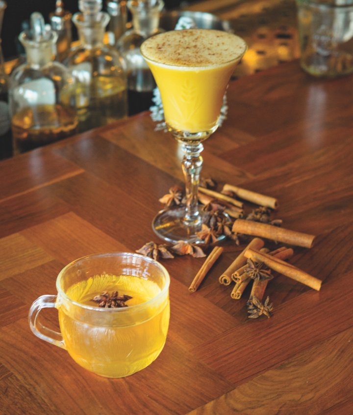 At Chicago's Billy Sunday, the warm cocktail Sweater Weather blends aquavit, Moscato Chinato and house-made wine-poached quince syrup. Quince adds tartness and texture to drinks.