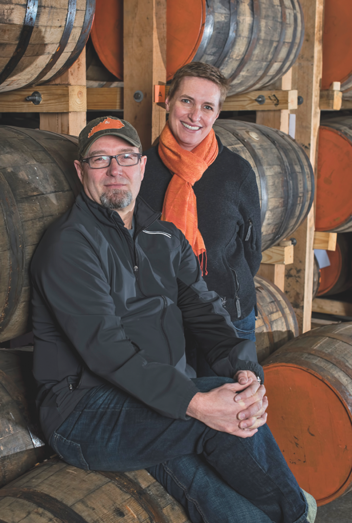 Copper & Kings owners Joe and Lesley Heron released their first brandy in mid-2014. The company recently sold a minority stake to Constellation Brands.