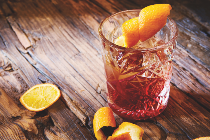 Upscale rum is incorporated into both Negronis (pictured) and Manhattans at Dante in New York City.