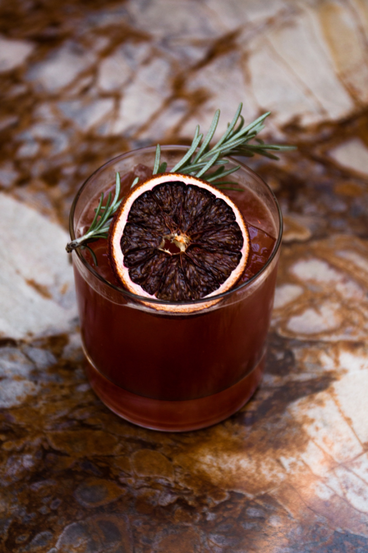 The Half Blood Prince at Chicago-based Honey's mixes Khor vodka, Averna amaro, Bittermens Tepache spiced pineapple liqueur, house-made blood orange-Sri Lanken tea syrup, and lime juice.