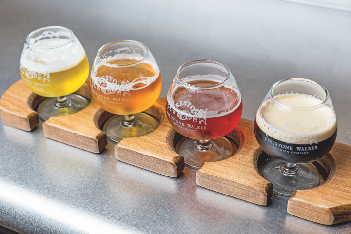 Firestone Walker's beers range from the top-selling 805 blonde ale to the flagship Double Barrel British pale ale. The brewery produces 400,000 barrels a year.