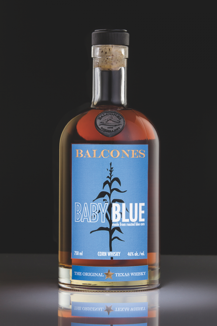 Distilled with Arizona-sourced blue corn, Balcones' Baby Blue corn whiskey is the youngest and most approachable whiskey in the distillery's portfolio.