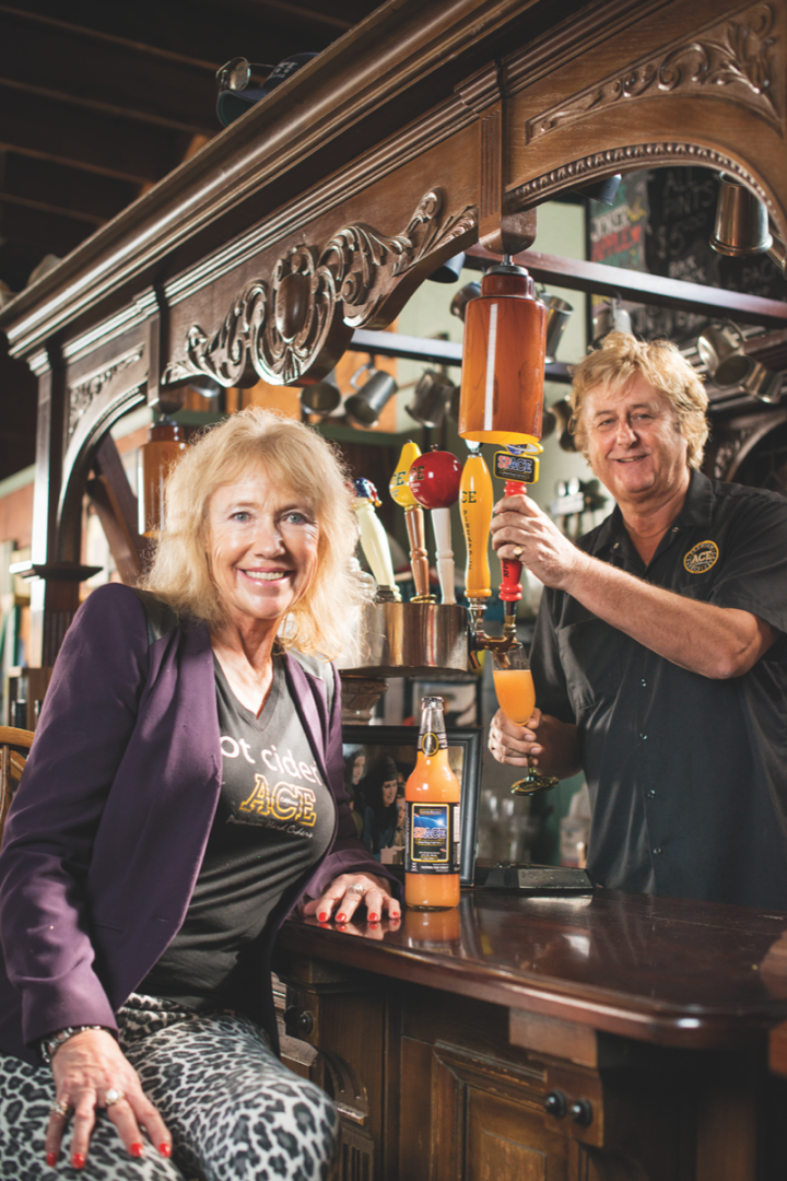 Sonoma-based Ace Cider (co-owners Jeffrey House and Angela House pictured) is a leader in the new generation of large-scale craft ciders.