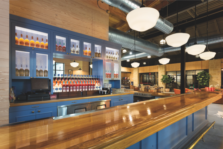 Smaller vodka brands often rely on consumer experiences to attract a larger audience. Deep Eddy opened a tasting room (pictured) at its facility in Dripping Springs, Texas in 2014. The 5,000-square-foot space serves specialty cocktails and vodka flights.