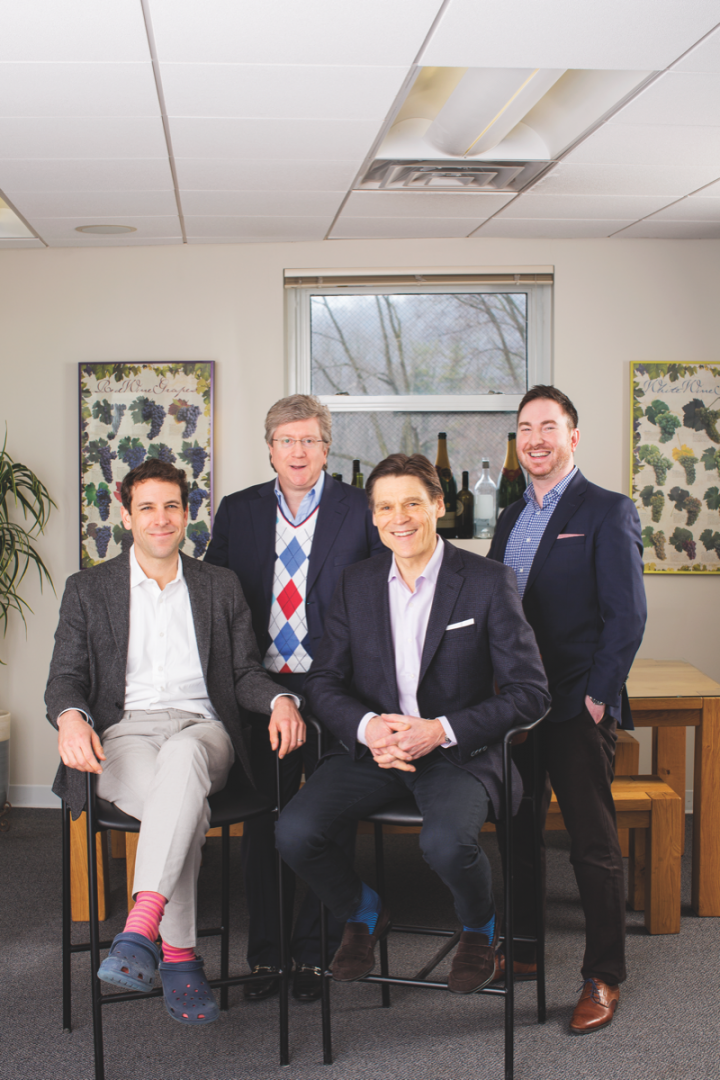 (From left): Vintnus executive vice president and COO Alexander Michas, CFO James Federico Jr., Michael Quinttus, and vice president and director of marketing Michael Gitter. The team will focus on sustained, steady growth for the future.