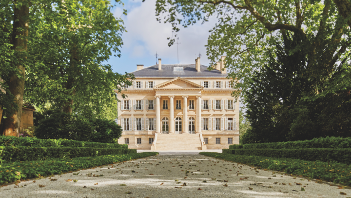 Wines from France (Château Margaux's exterior pictured top) make up the lion's share of Vintus offerings.