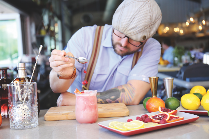 Many establishments, such as Phoenix-based Fox Restaurant Concepts (beverage director Mat Snapp pictured), are foregoing bottled sangria on-premise in favor of creating original concoctions.