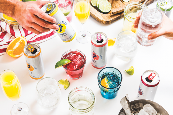 Hard seltzer (cans pictured) was among the top-selling products trending at beverage alcohol stores this summer.