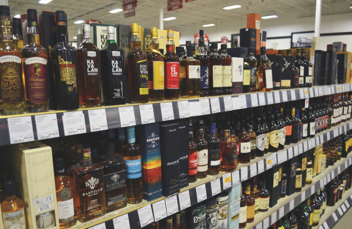 World whiskies are booming at Binny's Beverage Depot in Chicago (shelf pictured).